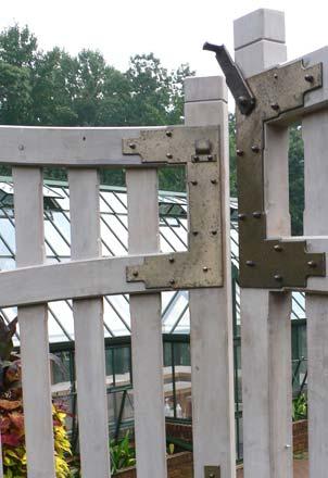 Blacksmith : Custom Designed Garden Gate Hardware : Hand Forged Steel And  Bronze