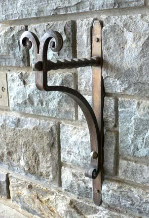 Blacksmith Custom Designed Garden Hose Holder Hand