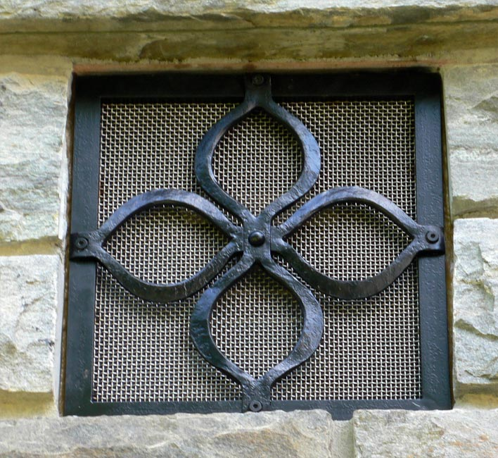 Blacksmith : Custom Designed Kitchen Vent Cover : Hand Forged Steel