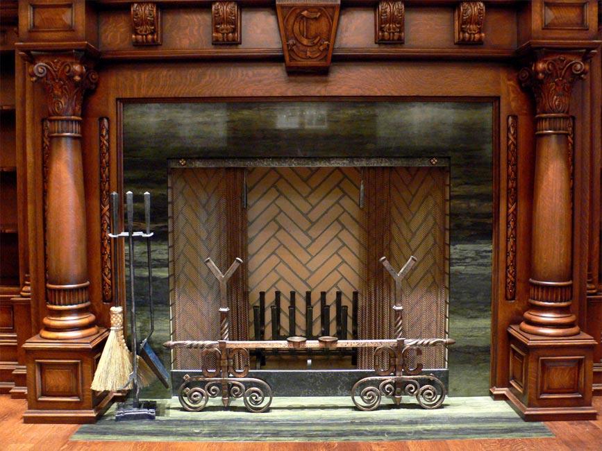 Blacksmith Custom Designed Double Fireplace Hand