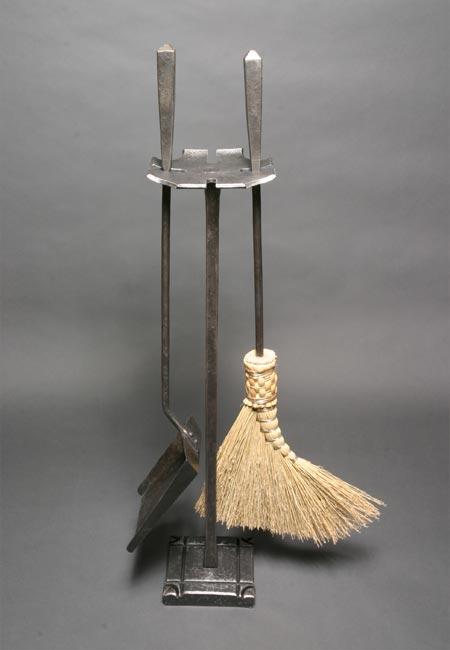 Blacksmith Custom Designed Fireplace Poker Shovel Tongs