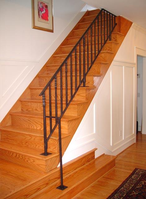 Blacksmith Custom Designed Stair Railing Hand Forged Steel