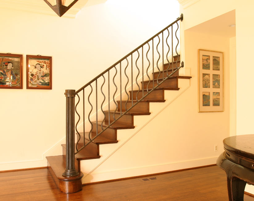 Stainless steel stair railing images gallery joy studio for Interior staircase railing designs